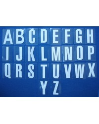 Letters White A-Z (self-adhesive)