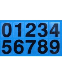Numerals Black 0-9 (self-adhesive)