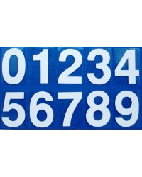 Numerals White 0-9 (self-adhesive)